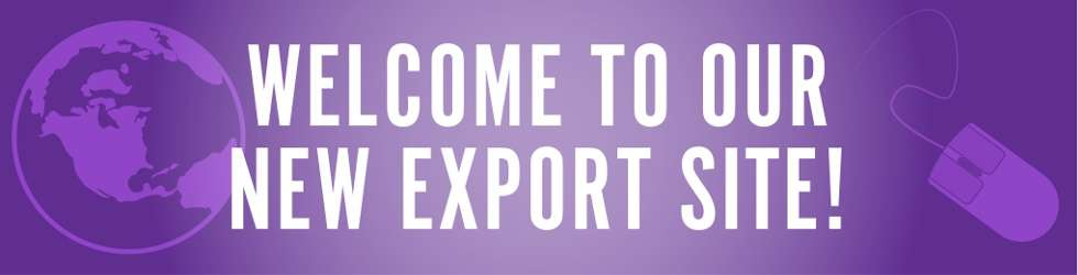 Welcome to our new export site!
