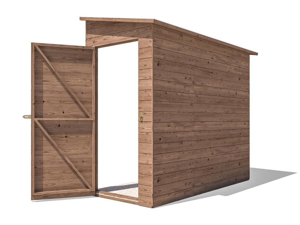 Anya 3-Sided Pent Shed -Right W1.17m x D2.40m