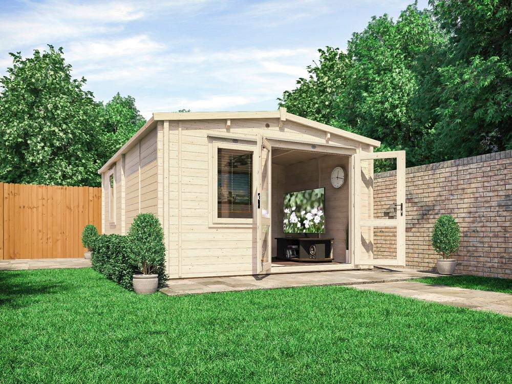 Rhine Warmalog Insulated Log Cabin Extension W3.8m x D5.8m