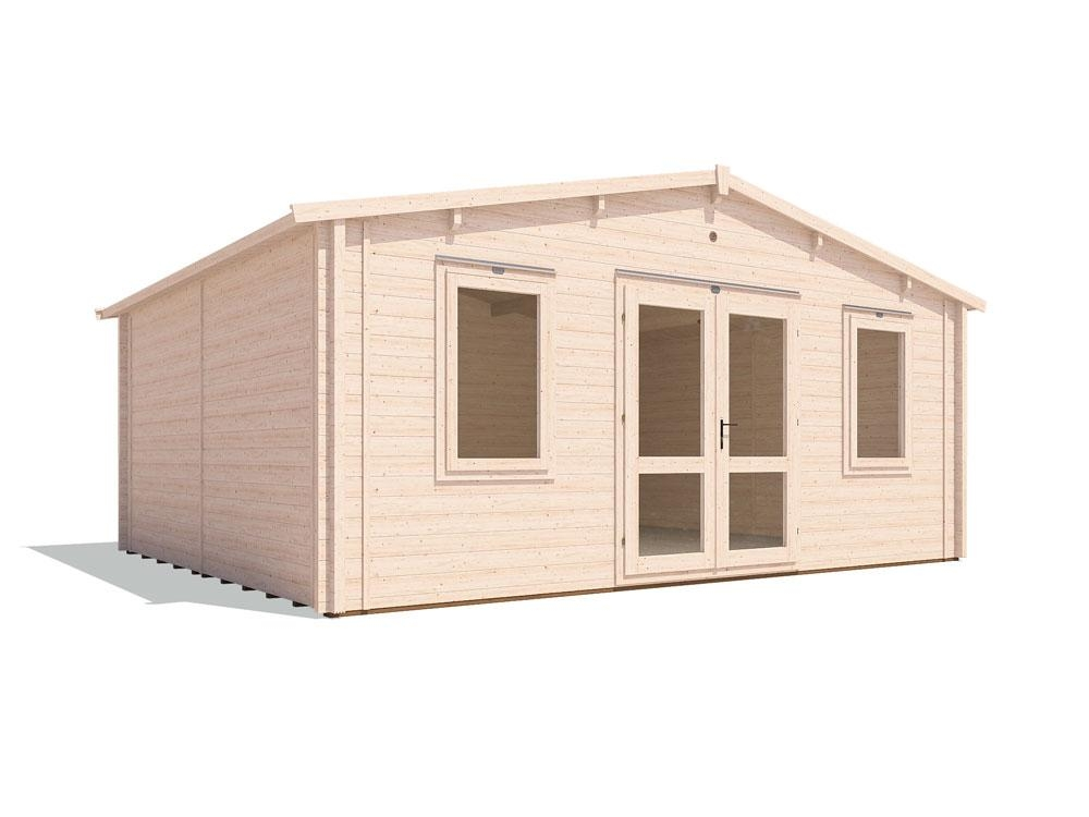 Vanguard Warmalog Insulated Log Cabin W5.8m x D4,8m