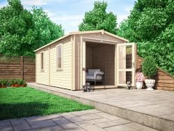 Avon Warmalog Insulated Log Cabin Extension – 2.8m x 5.8m