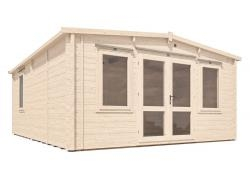 Severn Warmalog Insulated Log Cabin Extension W4.8m x D5.8m