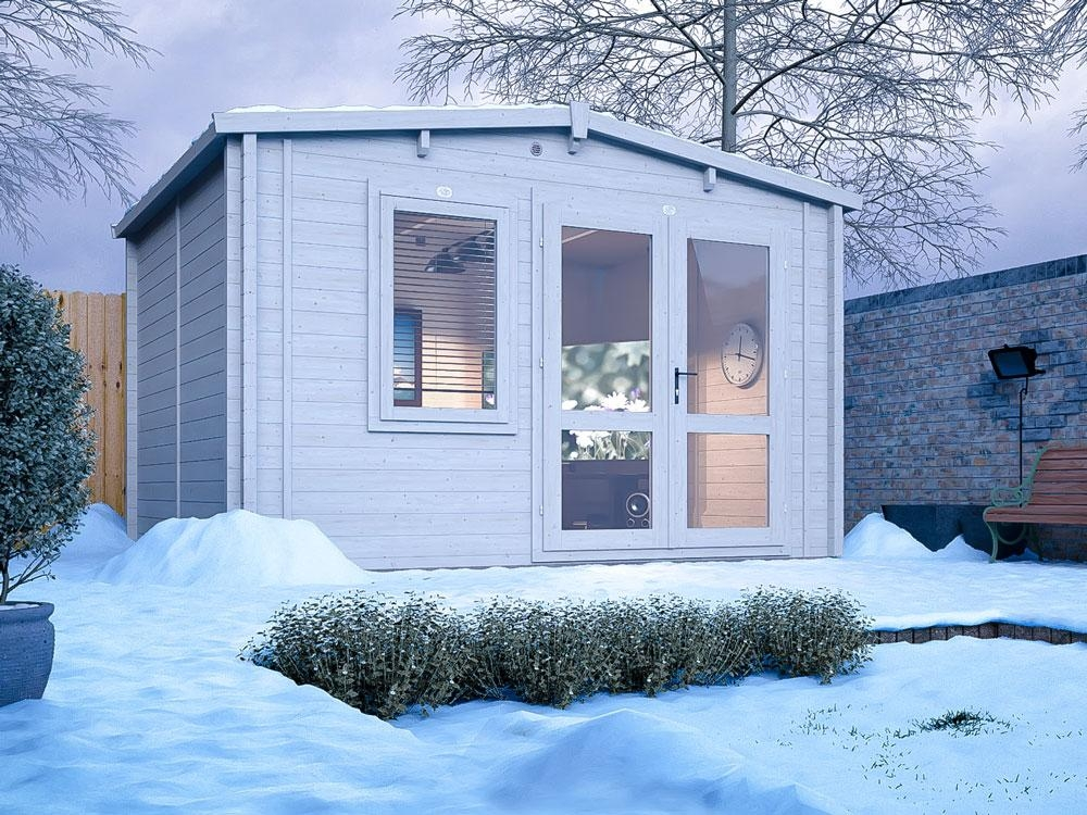 Rhine Warmalog Insulated Log Cabin W3.8m x D3.0m